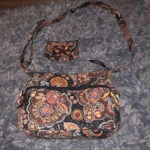 Vera Bradley adjustable strap with matching wallet